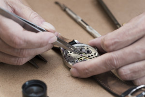 Detail of Watch Battery Removal